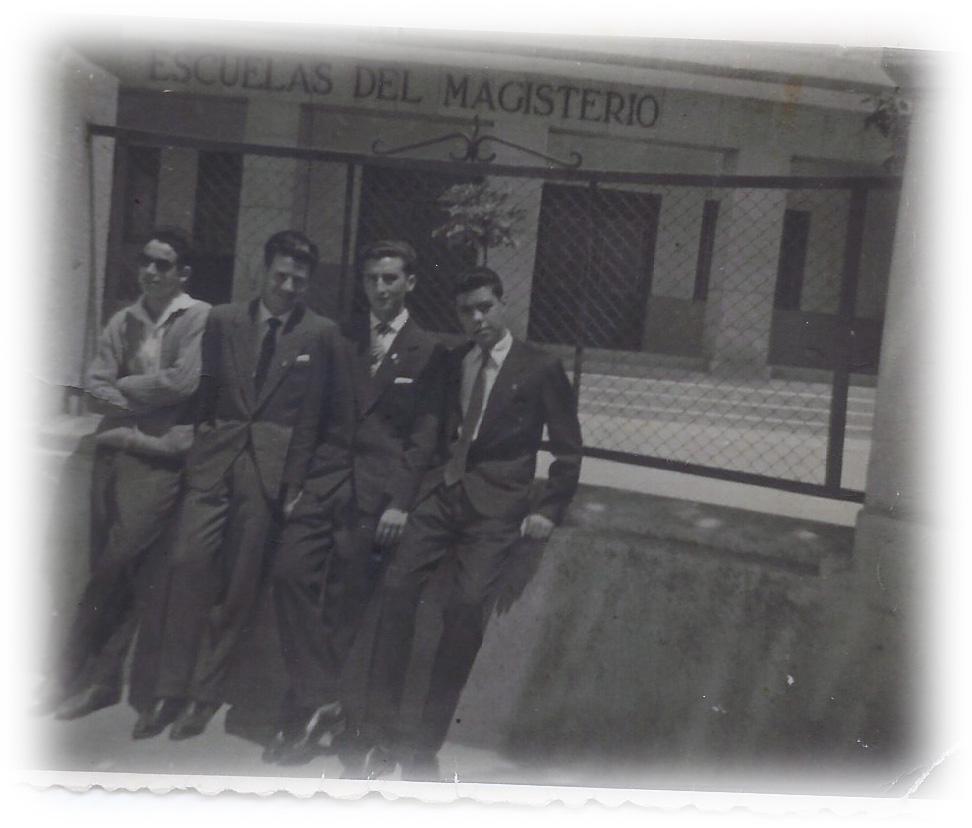 12-Con grupo amigos Escuela Normal Zamora