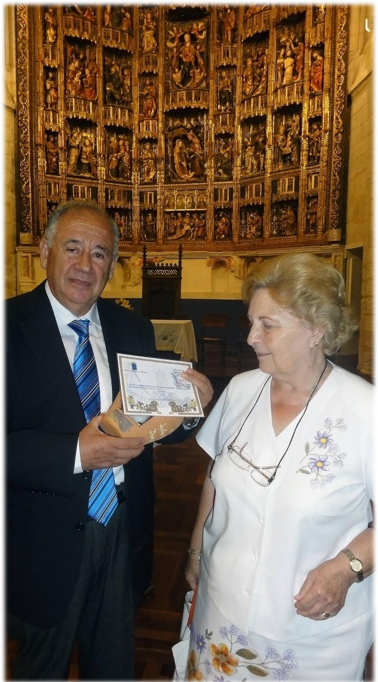 41-recogiendo premio en Dueñas agosto 2011